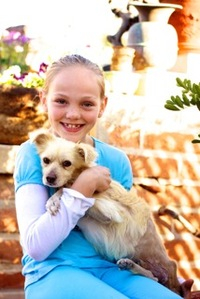 Girl Finds Strength in Fostering Diabetic Dog